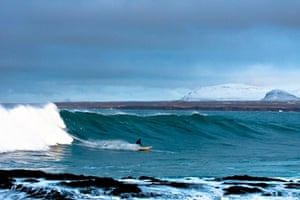 Catching a wave in Iceland