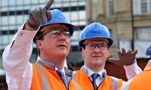 Chancellor George Osborne And Prime Minster David Cameron Visit Manchester