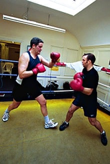 Stephen Moss, back in his boxing days