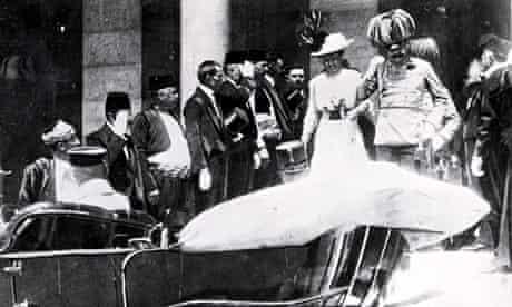 Franz Ferdinand and wife Sophie before their murder