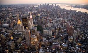 New York Skyline from the Empire State Building, New York City, Manhattan, New York.