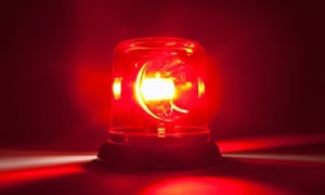 A Red Emergency Light. Image shot 2010. Exact date unknown.