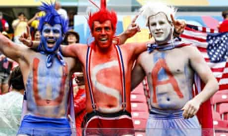 USA fans during their World Cup match against Germany in Recife