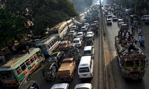 traffic in Karachi