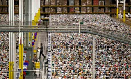 Workers at Amazon's distribution centre in Arizona