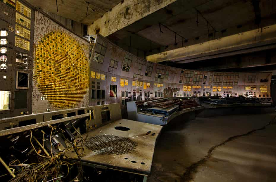 The Long Shadow of Chernobyl : Entombing the radiation, a brick wall blocks the entrance to the control room of reactor #4 where the fatal mistake occurred.