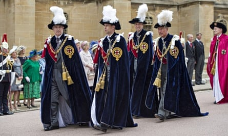 Princes Andrew, Edward, William and Charles