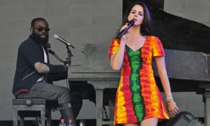 Lana Del Rey performs live on the Pyramid stage