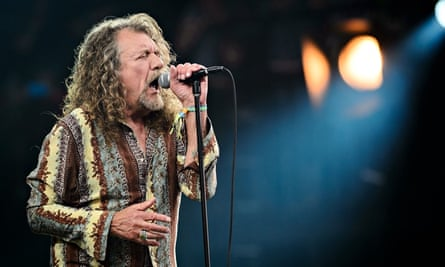 Robert Plant on the Glastonbury pyramid stage