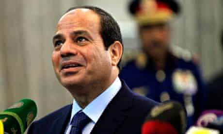 Abdel Fatah el-Sisi was present at the announcement of the new device in February.
