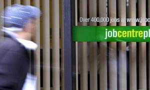 UK underemployment – a man passing a Jobcentre
