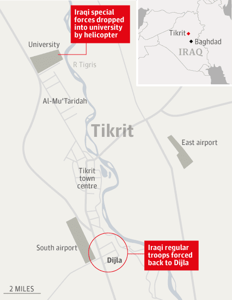 iraqi forces launch attacks on tikrit world news the guardian