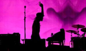 Kasabian headline Pyramid last night Glastonbury festival 2014
