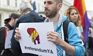 Protest demanding Third Republic at Spanish Embassy in London
