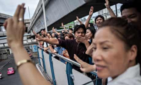 Anti-coup protesters in Thailand