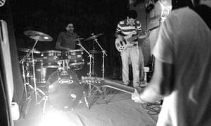 Iranian indie rock band Langtunes. Tehran, Iran. 2013.