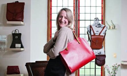 Hannah Booth with handbag