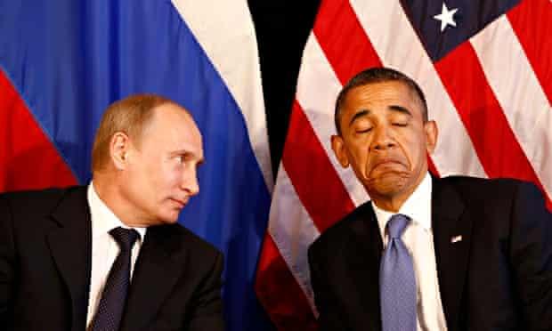 Barack Obama and Vladimir Putin