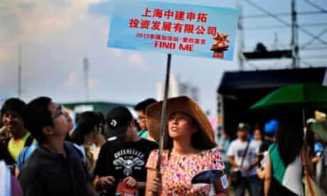 A matchmaking event on Jinshan beach, Shanghai