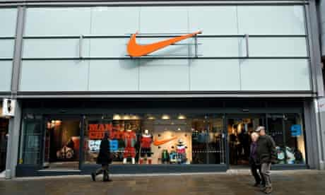 Nike store front Manchester city centre UK