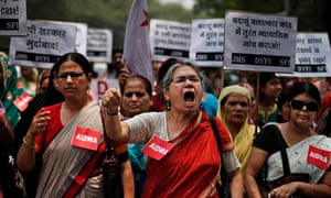 Protest against gang-rapes in India