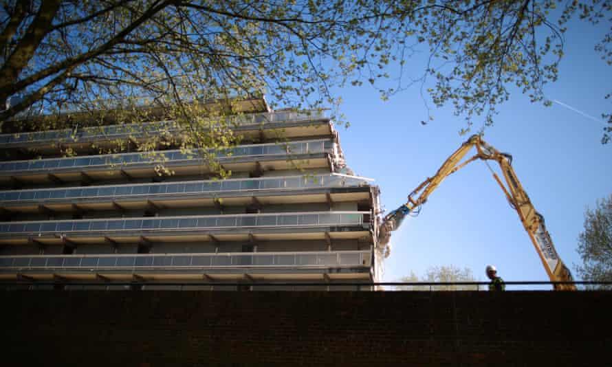 The Heygate Estate, Elephant & Castle, London being demolished