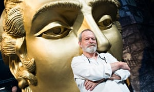 Terry Gilliam on the set of Benvenuto Cellini