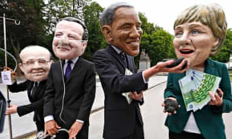 G7 protest in Brussels