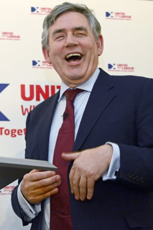 Gordon Brown at the Scottish Labour Party referendum campaign launch in Edinburgh, earlier in Tuesday