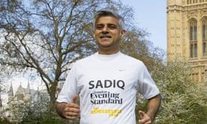 Sadiq Khan, running hard.