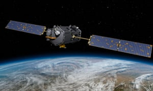 Artist concept rendering provided by NASA shows their Orbiting Carbon Observatory (OCO)-2