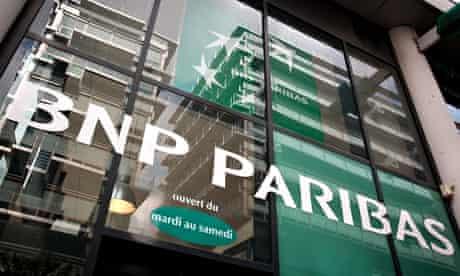 BNP Paribas bank in Paris