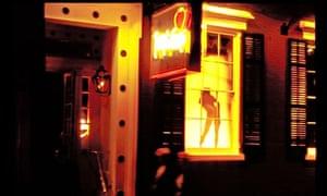 A strip club exterior