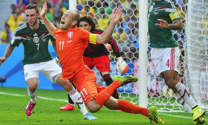Did Arjen Robben dive to help Holland knock Mexico out of the ...