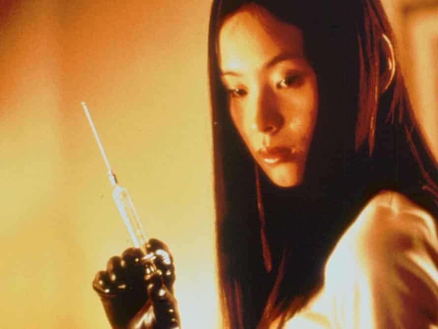 Eihi Shiina in Takashi Miike's 1999 notoriously nasty horror film Audition