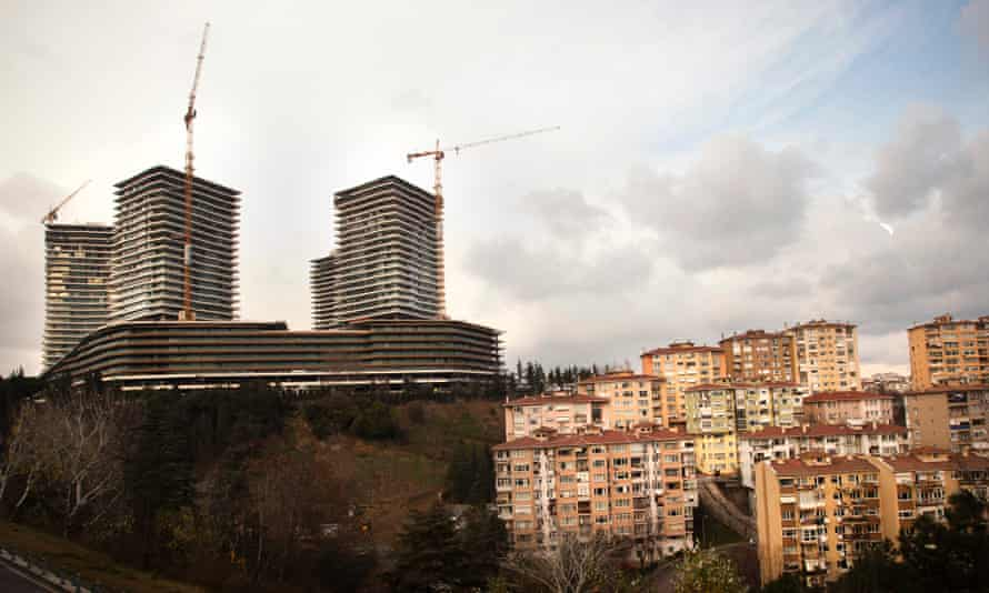 The Zorlu Centre under construction in Istanbul's Zincirlikuyu district.