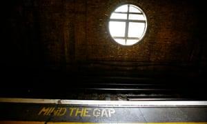 mind the gap tube sign