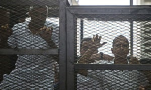 Trial of Al-Jazeera journalists in Cairo, Egypt, 23 June 2014