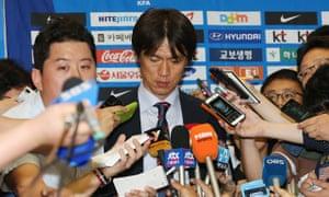 South Korean head coach Hong Myung-bo