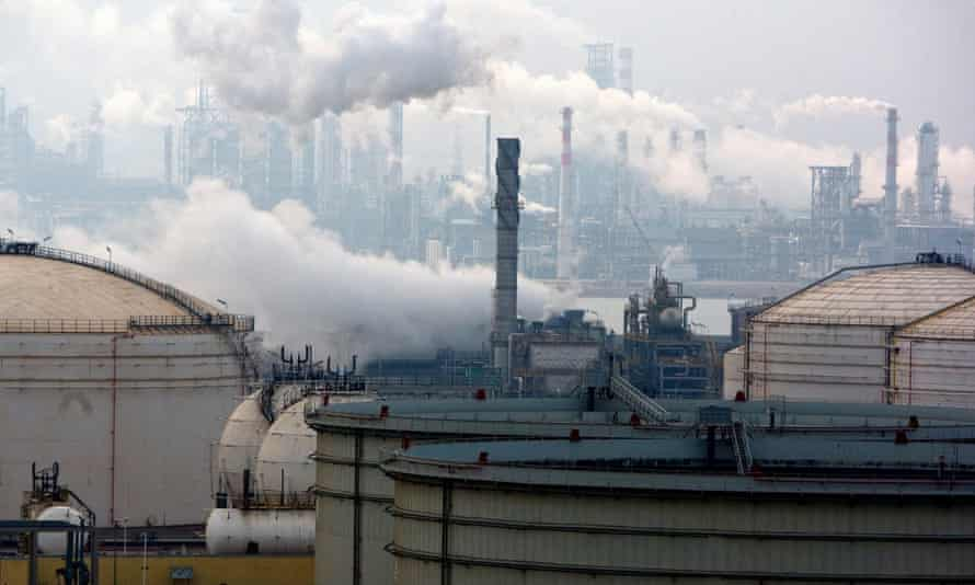 An oil refinery plant in Qingdao city in eastern China's Shandong province, in January 2013. China is one of North Korea's main oil suppliers.