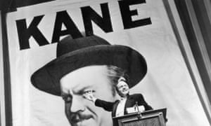 Orson Welles as Charles Foster Kane, who uses his newspaper empire to try to get elected