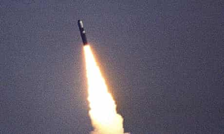 Trident missile test firing