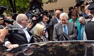 Rolf Harris leaves court after guilty verdict