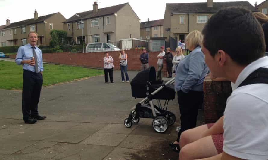 Jim Murphy speaking in Falkirk yesterday