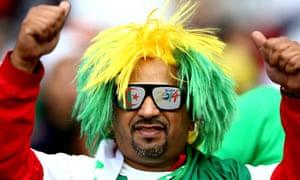 An Algeria fan