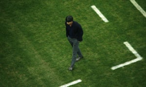 Germany's coach Joachim Loew has work to do during half-time.