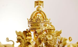 The crown on top of the diamond jubilee state coach