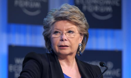 Vice-President of the European Commission and Commissioner for Justice Viviane Reding attends a session at the World Economic Forum in Davos on January 25, 2013.