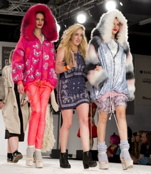 Camilla Grimes  from Manchester School of Art wins the creative catwalk award during day four of Graduate fashion week 2014