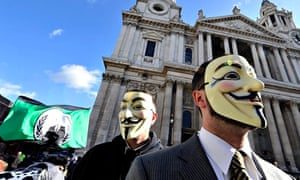 Protestors of Occupy the London Stock Exchange Movement Set up Camp Outside St.Paul's Cathedral.